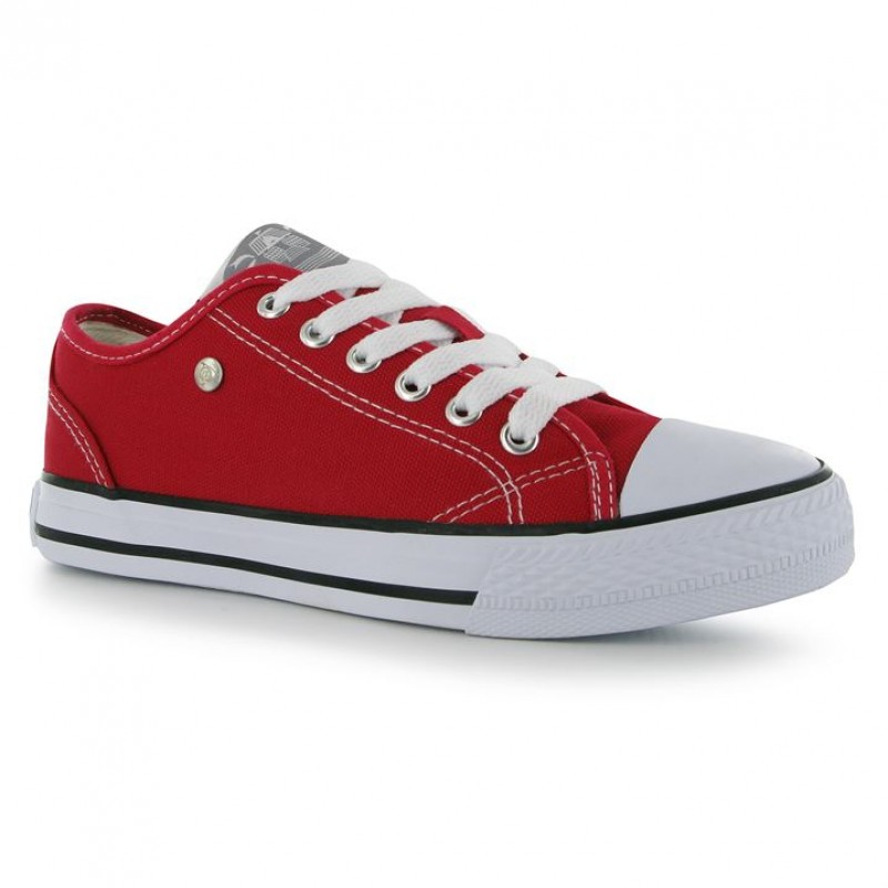 Dunlop-Canvas Low Ladies Red