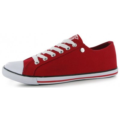 Dunlop-Canvas Lo Pro Ladies Red