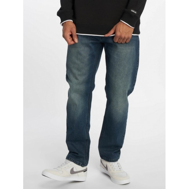 Ecko straight loose Jeans 1030-Mid Blue