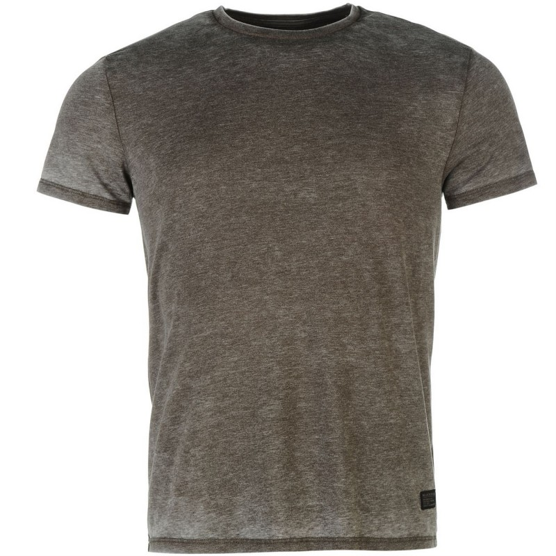 Firetrap Burnout TShirt-Brown