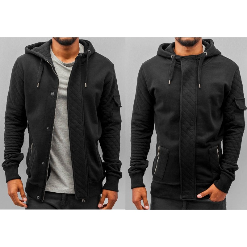 JR Step Zip Hoody 203-Black