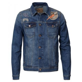 Petrol denim jacket 136