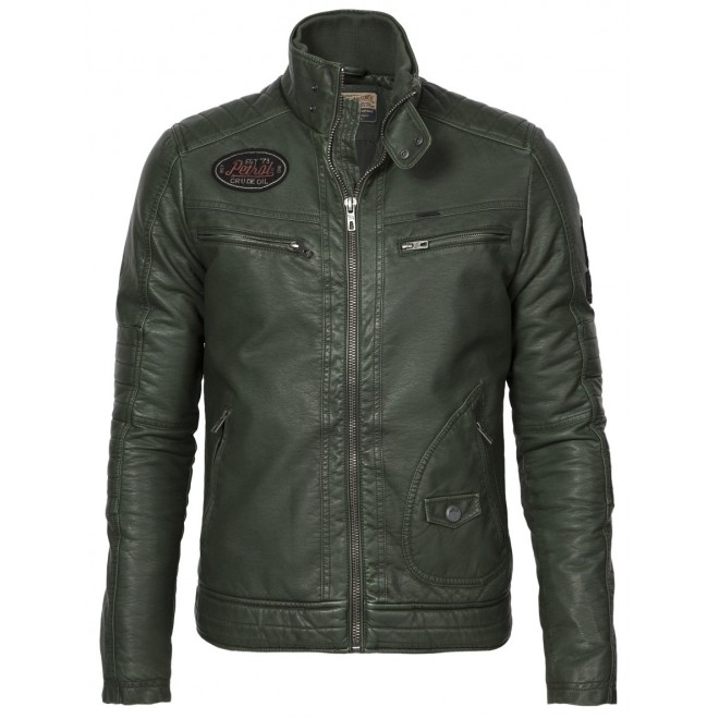 Petrol Biker Jacket 149-Dark green