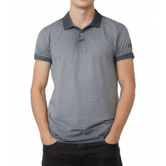 Petrol polo shirt 913-Washed bluegrey