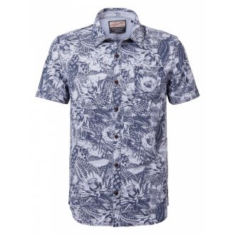 Petrol shortsleeve shirt 445-Seascape