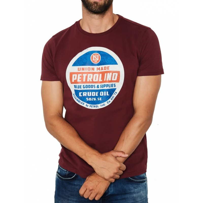 Petrol T-shirt 607-Dark red
