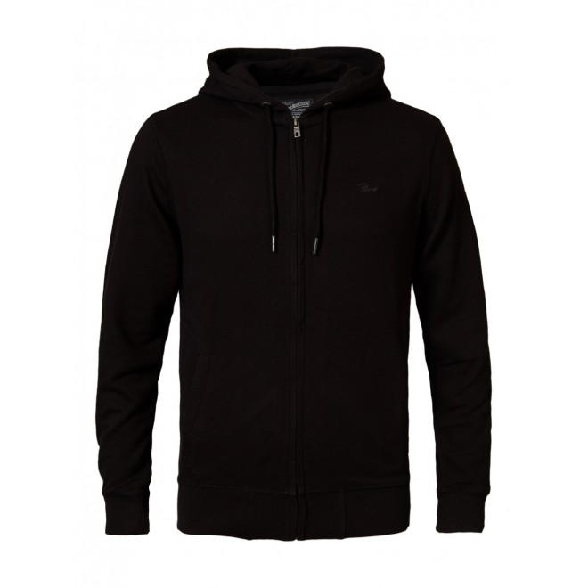 Petrol zip hood 001-Black