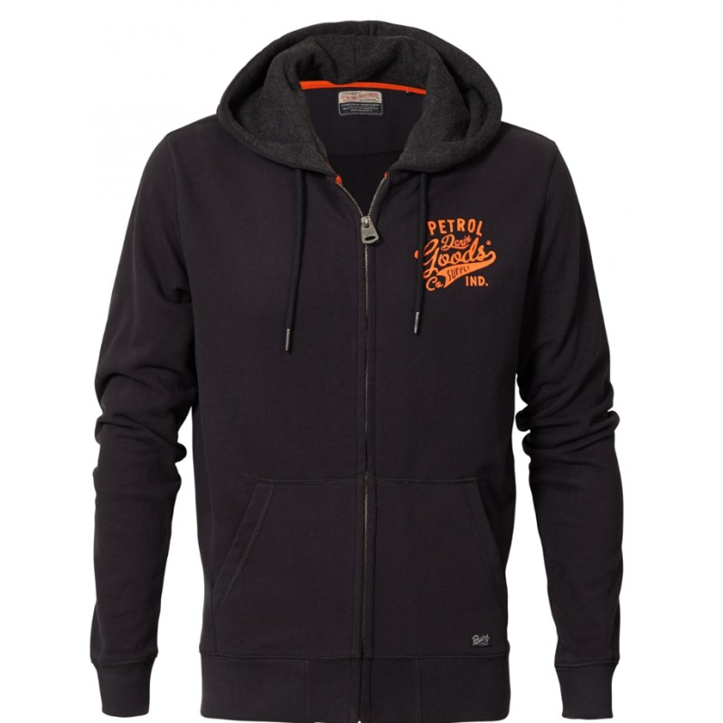 Petrol zip hood 209-Black navy