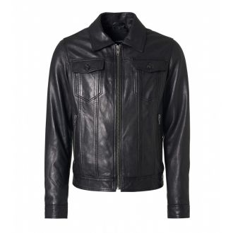Leather jacket Riger-Black