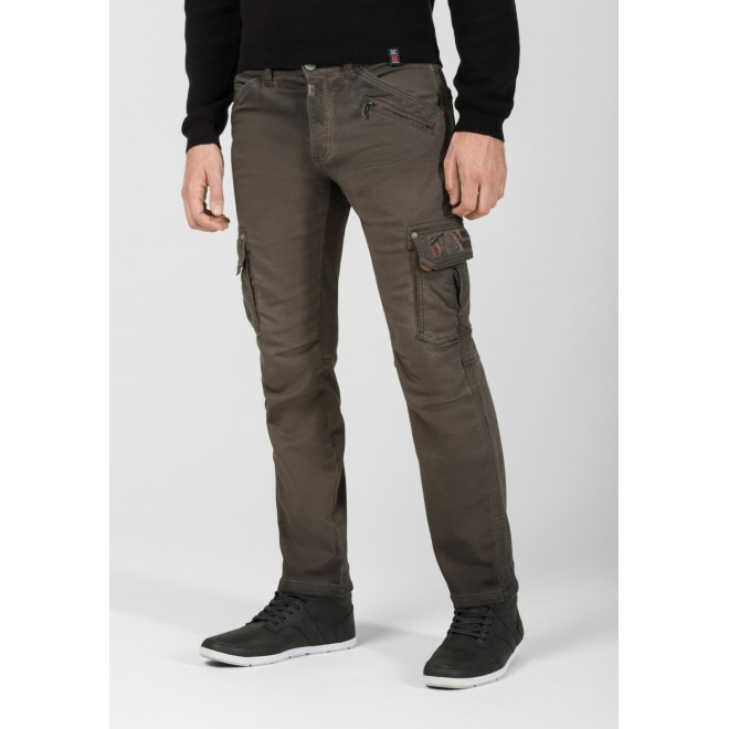 TZ Roger stretch pants-Washed grey