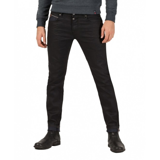 TZ Scott coated denim-Black Dull