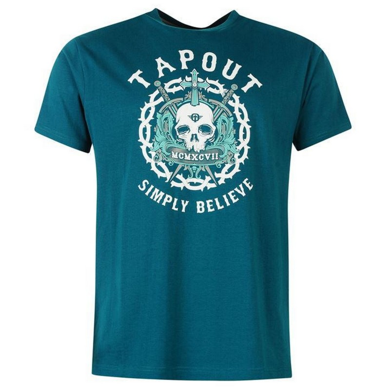 Tapout Skull Print T-shirt-Petrol