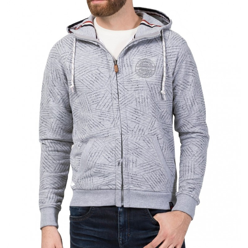 TZ hoodie jacket 10073-Light grey