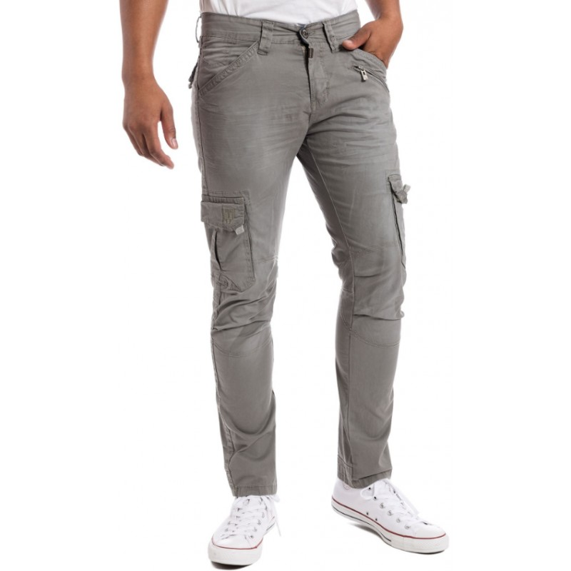 Timezone Pants Ben SLIM-Steel Grey