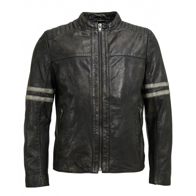 Rocknb Leather jacket-Trust