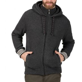 TZ  knit hoodjacket 10091-grey
