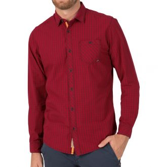 TZ longsleeve shirt 10036-Dark red check