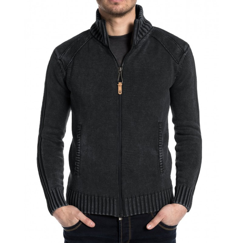 TZ Stanley Vintage knit jacket-Pirate black