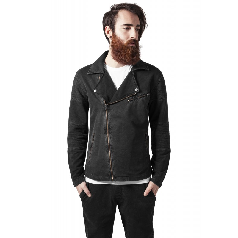 Urban-Terry Biker Jacket-1255-darkgrey