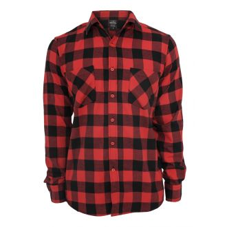 Urban checkshirt-black/red