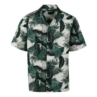 Urban shortsleeve shirt 2735-Palm leaves