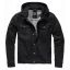 Cradock denim hoodjacket-Black