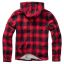 Hooded Lumberjacket-Black/red