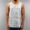 Just Rhyse Marble Tank Top-white/grey