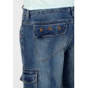 Timezone Miles denim 3/4 shortsit-White used