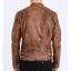 Rocknb Leather jacket-Mission Brown