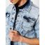 Petrol denim jacket 130-Light used