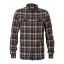Petrol heavy cotton checkshirt 419-Raven grey