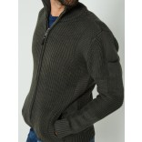 Petrol Knit jacket-Olive