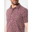 Petrol shortsleeve shirt 428-Burgundy