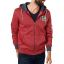 Petrol zip hood 328-Red