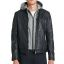 Leather hood jacket-Rock