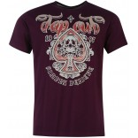 Tapout Skull Aces T-shirt-Purple