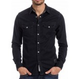 TZ Denim Longsleeve 5017 shirt-Blueblack