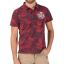 TZ Hawaii Polo-Red jungle
