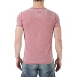 Timezone Henley T-shirt 10056-Chili red