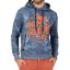 TZ Hawaii Print Hoodie-Blue jungle
