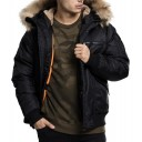 Urban fur bomber Jacket-Black